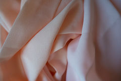 Tela de la gasa en rosa y colores en colores pastel del melocotón Foto de archivo libre de regalías