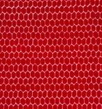 Tela de la impresión de la red de la abeja Imagen de archivo libre de regalías