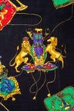 Tela de la impresión del león Imagen de archivo
