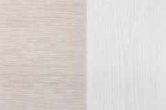 Tela de la tabla de madera del lado izquierdo Fotografía de archivo