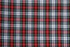 Tela de la tela escocesa Imágenes de archivo libres de regalías