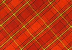 Tela de la tela escocesa Fotografía de archivo libre de regalías
