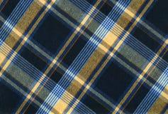 Tela de la tela escocesa Fotografía de archivo