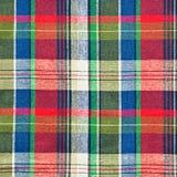 Tela de la tela escocesa Foto de archivo libre de regalías