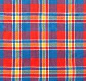 Tela de la tela escocesa Imagenes de archivo