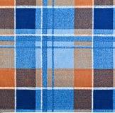 Tela de la tela escocesa Fotos de archivo libres de regalías