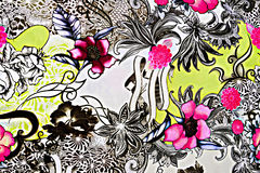 Tela de la textura de la flor retra Fotos de archivo libres de regalías