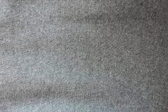 Tela de lana gris gruesa de la capa desde arriba Fotos de archivo libres de regalías