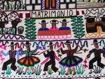 Tela de lana hecha a mano peruana foto de archivo libre de regalías