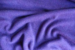 Tela de lana simple fina violeta doblada del jersey Imagen de archivo