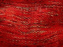 Tela de las lanas de la mano que teje Foto de archivo