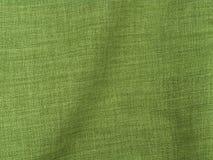 Tela de lino verde Fotografía de archivo