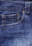 Tela de los pantalones vaqueros Foto de archivo