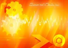 Tela de los sonidos ilustración del vector