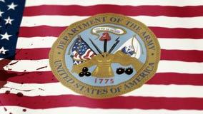 Tela de matéria têxtil de ondulação da bandeira do Estados Unidos ilustração royalty free