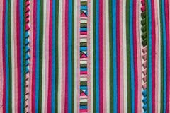 Tela de materia textil de la tribu de la colina Fotografía de archivo