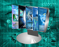 Tela de monitor Imagem de Stock