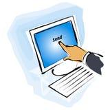 Tela de monitor do toque Fotografia de Stock