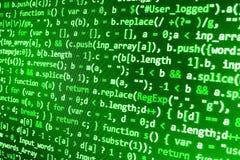 Tela de programação do código fonte da codificação Foto de Stock Royalty Free
