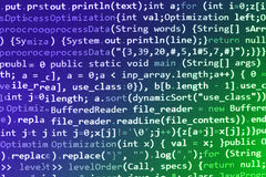 Tela de programação do código fonte da codificação Imagens de Stock Royalty Free