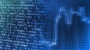 Tela de programação do código fonte da codificação Fotografia de Stock Royalty Free