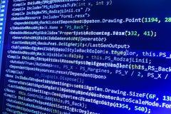 Tela de programação do código fonte da codificação Imagem de Stock