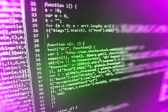 Tela de programação do código fonte da codificação Foto de Stock