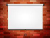 Tela de projeção na parede de tijolo Imagens de Stock Royalty Free