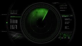 Tela de radar HUD Animation 4K ilustração royalty free