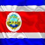 Tela de satén de Costa Rica Flag Waving Digital Silk ilustración del vector