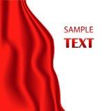 Tela de seda roja Vector el ejemplo con la tela roja del satén o de seda Materia textil de seda del vector - vector común Imágenes de archivo libres de regalías