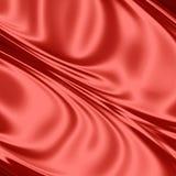 Tela de seda vermelha Fotografia de Stock Royalty Free