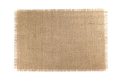 Tela de serapilheira isolada no fundo branco foto de stock