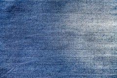 Tela del dril de algodón, textura azul del dril de algodón, primer de la tela para el fondo Fotos de archivo libres de regalías