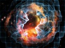 Tela del espacio ilustración del vector