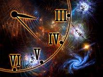 Tela del espacio y del tiempo stock de ilustración