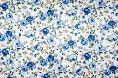 Tela del estampado de flores Foto de archivo libre de regalías
