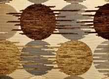 Tela del lino de la materia textil de Brown Foto de archivo libre de regalías