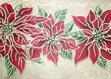Tela del Poinsettia Imagen de archivo