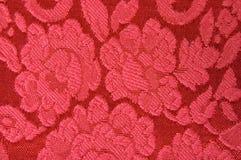 Tela del rojo de la tapicería Imágenes de archivo libres de regalías