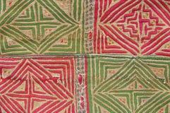 Tela del trabajo hecho a mano de la tradición del fondo de la tribu de la colina, Tailandia Imagen de archivo libre de regalías