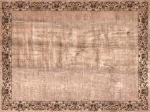 Tela di canapa antica del documento del blocco per grafici Immagini Stock