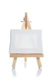 Tela di canapa in bianco sul supporto Fotografia Stock
