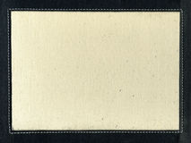 Tela di canapa con la striscia di cuoio e la cucitura Fotografie Stock Libere da Diritti