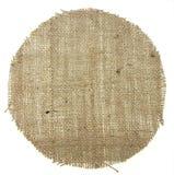 Tela di canapa della tela da imballaggio di figura rotonda Fotografie Stock