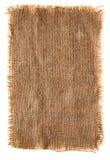 Tela di canapa molto dettagliata della tela da imballaggio con il bordo lacerato Fotografie Stock