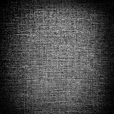 Tela di canapa nera di Grunge Fotografia Stock