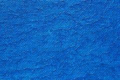 Tela di canapa verniciata blu Fotografia Stock Libera da Diritti