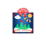 Tela do Applique para o Natal Fotos de Stock Royalty Free