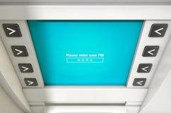 A tela do ATM inscreve PIN Code Imagem de Stock